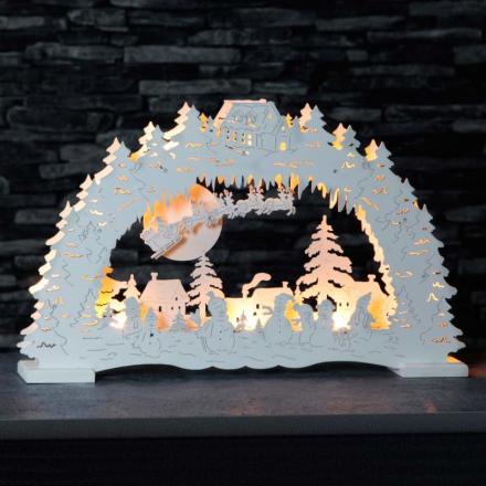 Tysk julenat - LED-lysbue i hvid