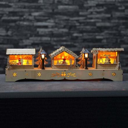Stemningsfuld LED-lysbue julemarked