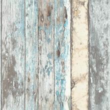 DUTCH WALLCOVERINGS Tapet scrapwood blå PE10012