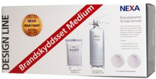 NEXA Brandskyddsset Medium Design Line brandsläckare 2kg - Vit