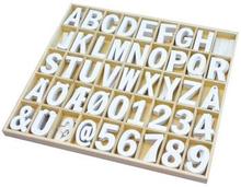 Playbox: Träbokstäver & Siffror