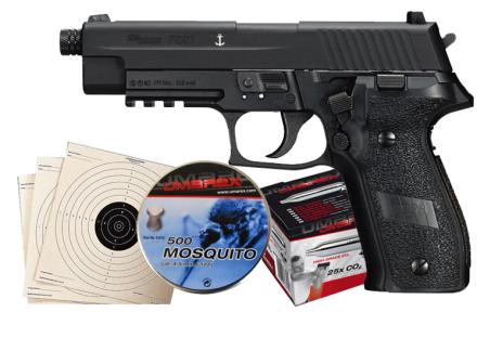 Sig Sauer P226 Sort Luftpistol Pakkesett med alt du trenger!