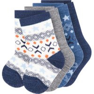 NAME IT Baby 4-pack Wool Socks Man Blå