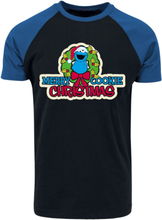 Sesam Stasjon - Merry Cookie Christmas -T-skjorte - svart, blå