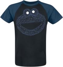 Sesam Stasjon - Cookie Monster -T-skjorte - svart, blå