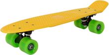 [pro.tec] Mini skeittilauta - keltainen vihreillä pyörillä