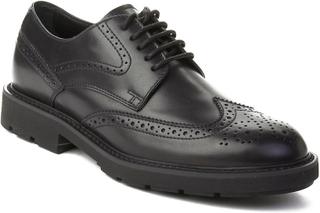 TOD'S Tods mäns läder Brogue Oxford skor svart 6