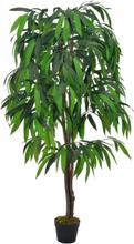 vidaXL Konstväxt Mangoträd med kruka 140 cm grön