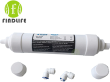 Quick connect 10 Inch T33 with 2pcs fitting Water Purifier INLINE COCONUT Carbon Post WATER FILTER cartridge REVERSE OSMOSIS