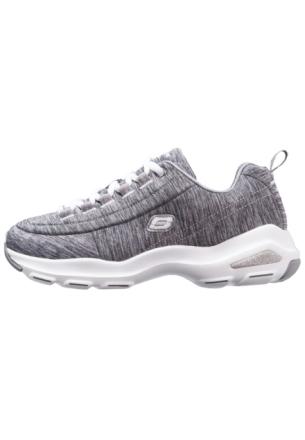 Skechers Sport D'LITE ULTRA Joggesko gray heathered/white/silver