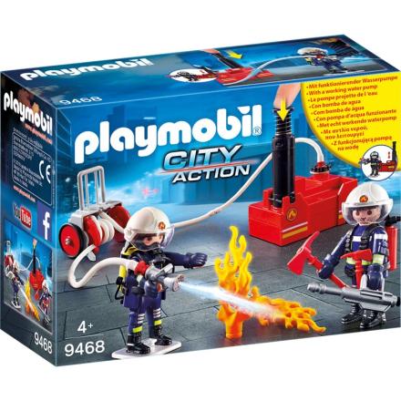 9468 Brandmænd med Vandpumpe - Lekmer