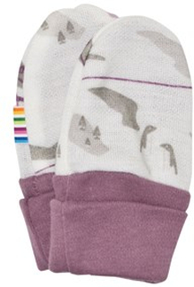Joha Cable Car Baby Mittens Purple 50/60