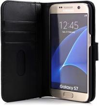 Cirafon Genuine Leather Wallet Samsung Galaxy S7 Musta Nahka