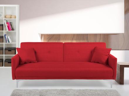 Sovesofa rød - sofa - stofsofa - Lucan