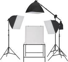 vidaXL Studioutrustning för fotografering softbox och fotobord