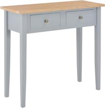 vidaXL Avlastningsbord grå 79x30x74 cm trä