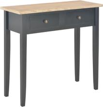 vidaXL Avlastningsbord svart 79x30x74 cm trä