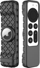 2021 Anti-lost Skyddsfodral För Siri Remote 2nd Gen Cover Fo Black