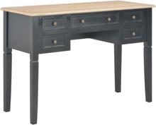 vidaXL Skrivbord svart 109,5x45x77,5 cm trä