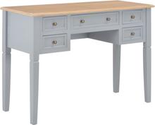 vidaXL Skrivbord grå 109,5x45x77,5 cm trä