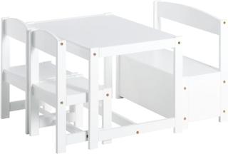 Møbler 1 bord, 2 stk børnestol & 1 bænk - Børnebord / Børnemøbler 101405