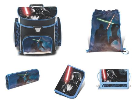 Star Wars Skoletaske sæt 5 dele - Star Wars Skoletaske 758707 - Eurotoys