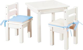 Møbelsæt, 2 stk børnestol & 1 bord Hvid - Børnebord / Børnemøbler 101404