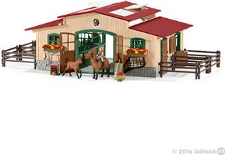 Stald med heste og tilbehør - Schleich 42195