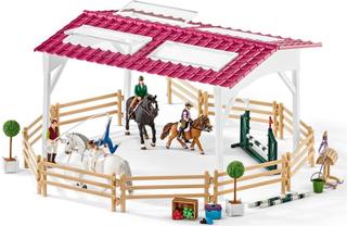 Rideskole med ryttere og heste - Schleich 42389