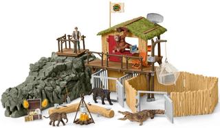 Jungle forskningsstation Krokodille - Schleich 42350
