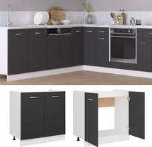 vidaXL Bunnskap til vask grå 80x46x81,5 cm sponplate