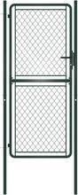 Hageport stål 100x175 cm grønn
