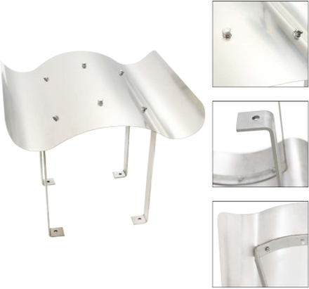 vidaXL Skorstenshuv rostfritt stål silver