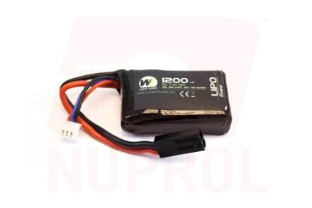 Batteri Li-Po 7.4V - 1200mAh 30C - PEQ15 Micro Type