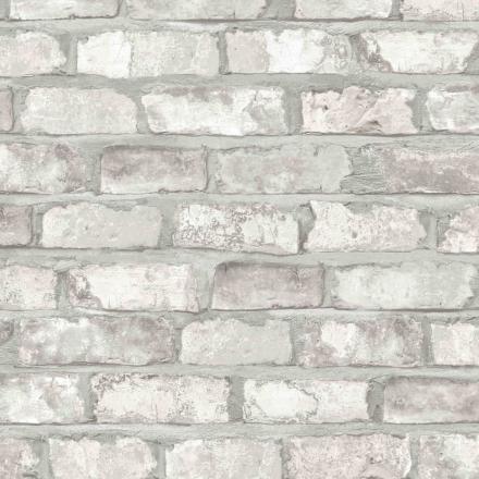 DUTCH WALLCOVERINGS tapet mursten hvid EW3104