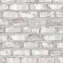 DUTCH WALLCOVERINGS Tapet tegelsten vit EW3104