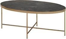 144 Java sohvapöytä, ovaali samppanjanvärisellä rungolla