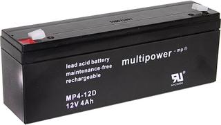 multipower MP4-12D A97402 Blybatteri 12 V 4 Ah Bly AGM (B x H x D) 195 x 76 x 47 mm Stickkontakt 4.8 mm Underhållsfri, Låg självurladdning