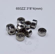 693ZZ 3*8*4(mm) 10pieces Bearing free shipping ABEC-5 Metal Sealed Miniature Mini Bearing 693 693Z 693ZZ chrome steel ABEC-5