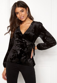 Happy Holly Abrianna velour top Black 52/54