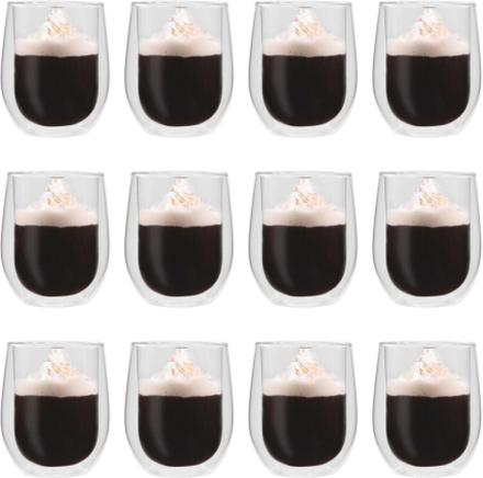 vidaXL Espressoglas dubbelväggiga 12 st 320 ml