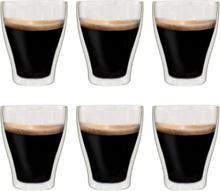 vidaXL Latte Macchiato-glas dubbelväggiga 6 st 370 ml