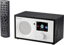 Internet bordradio Renkforce RF-IR-MONOV2 Internet Batteriopladningsfunktion, DLNA-kompatibel, Inkl. fjernbetjening Hvid-sort