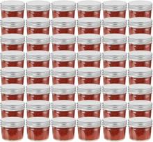vidaXL Syltburkar i glas med silvriga lock 48 st 110 ml