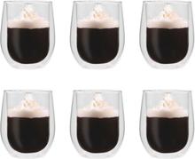 vidaXL Espressoglas dubbelväggiga 6 st 320 ml