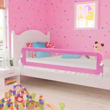 vidaXL Sängskena för barn rosa 180x42 cm polyester