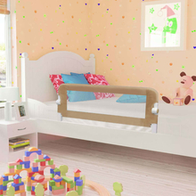 vidaXL Sängskena för barn taupe 102x42 cm polyester