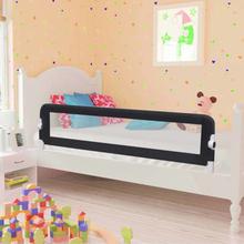 vidaXL Sängskena för barn grå 150x42 cm polyester