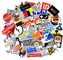 74 Pcs Internet Programming Java JS Php Html Cloud Docker Bitcoin Language APP Logo Cool Stickers for Laptop Car Phone Stickers