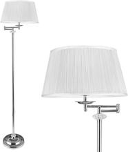 [lux.pro]® Elegantti lattiavalaisin - valkoinen varjostin 1xE 27 - 60W - krominvärinen / valkoinen